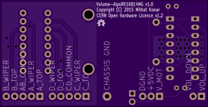 Bottom view of Volume-AlpsRK16814MG PCB