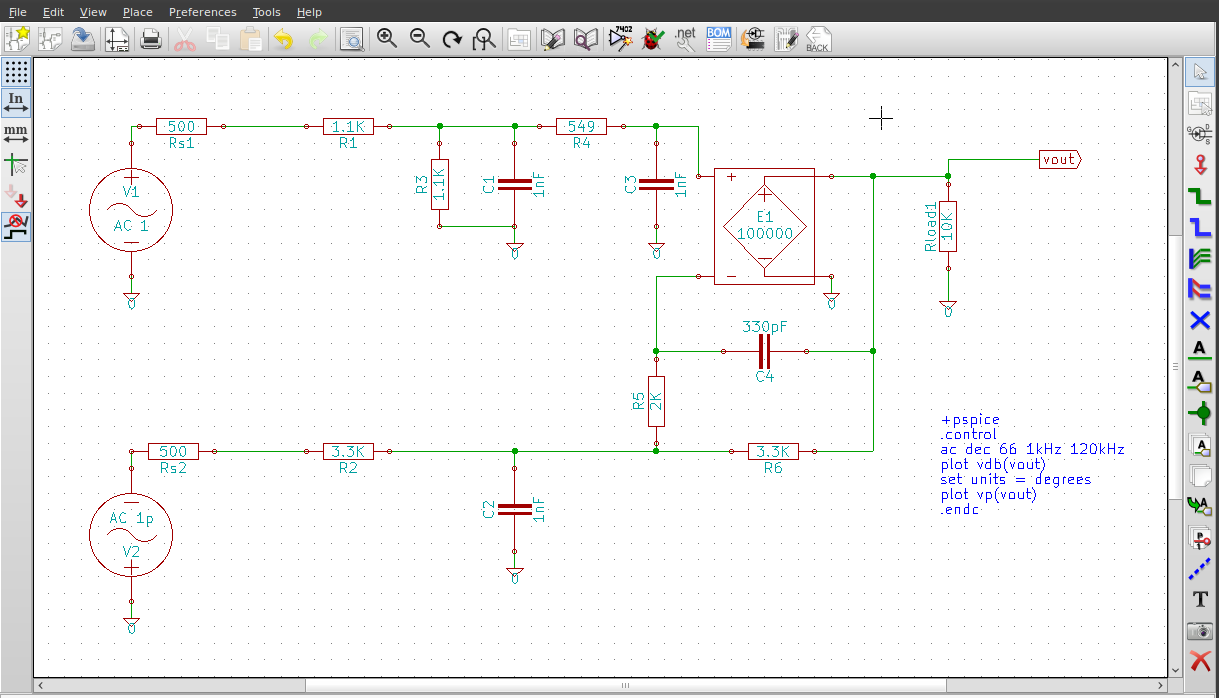 Quick Guide to Using KiCad for SPICE Simulation [Mithat